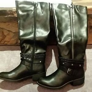 SO  Olive Zip Up Boots